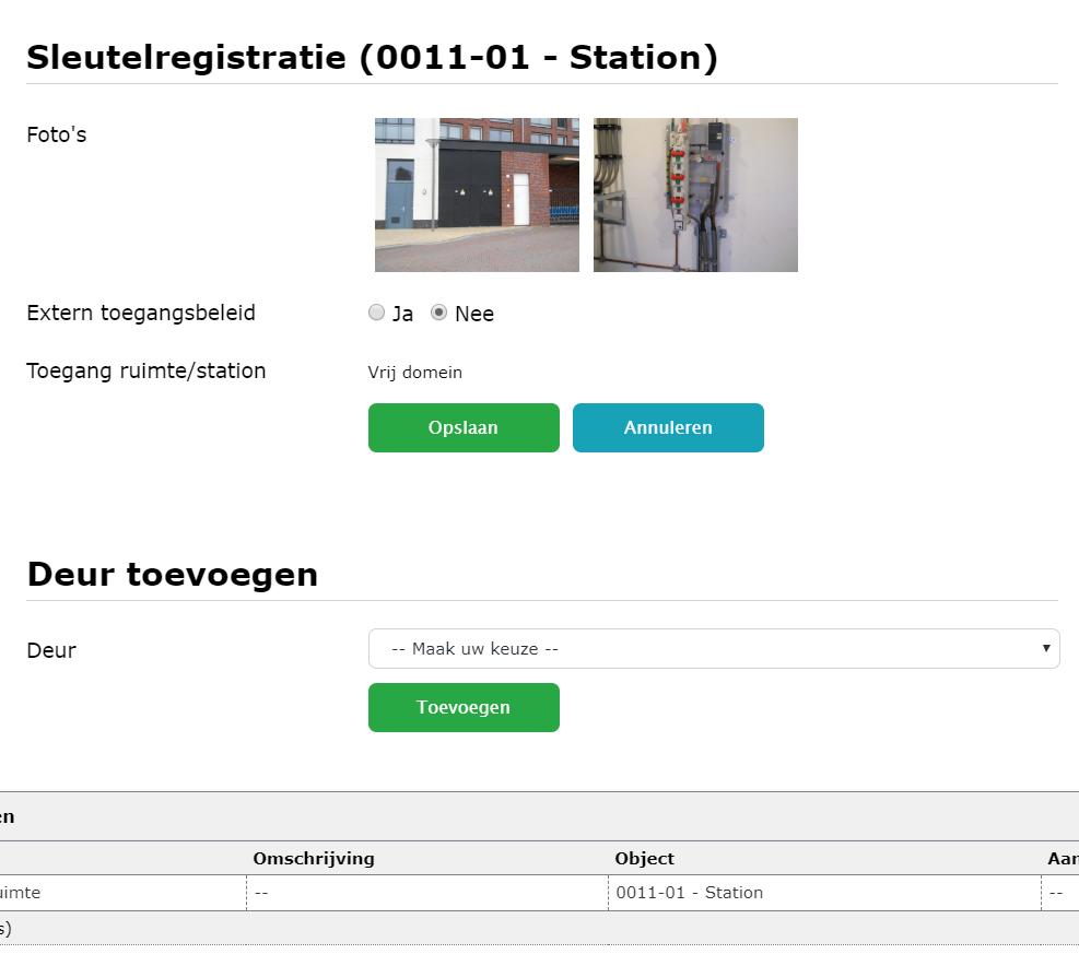 Registreer alle informatie over de sleutels met sleutelregistratie in het Q3 systeem