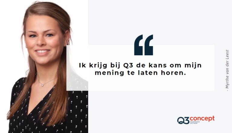 Myrthe van der Leest voorstellen bij Q3 Concept